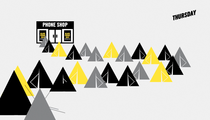Carphone Warehouse Black Tag Event Camping Illustration